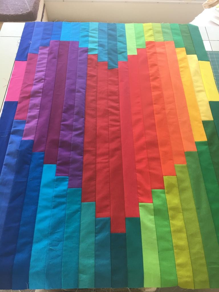 Strips together